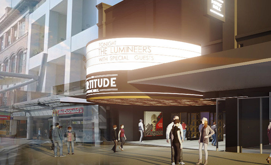Render of The Fortitude Music Hall